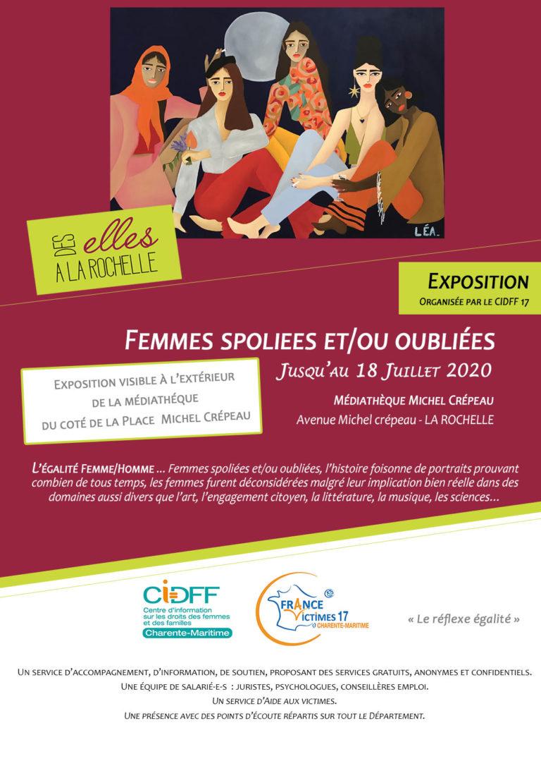 Exposition «Femmes spoliées et/ou oubliées» à la médiathèque jusqu'au 18/07
